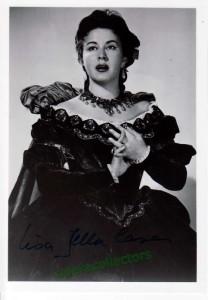 Lisa Della Casa - signed photo as Arabella