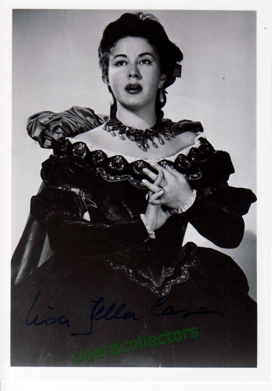 Lisa Della Casa - signed photo as Arabella