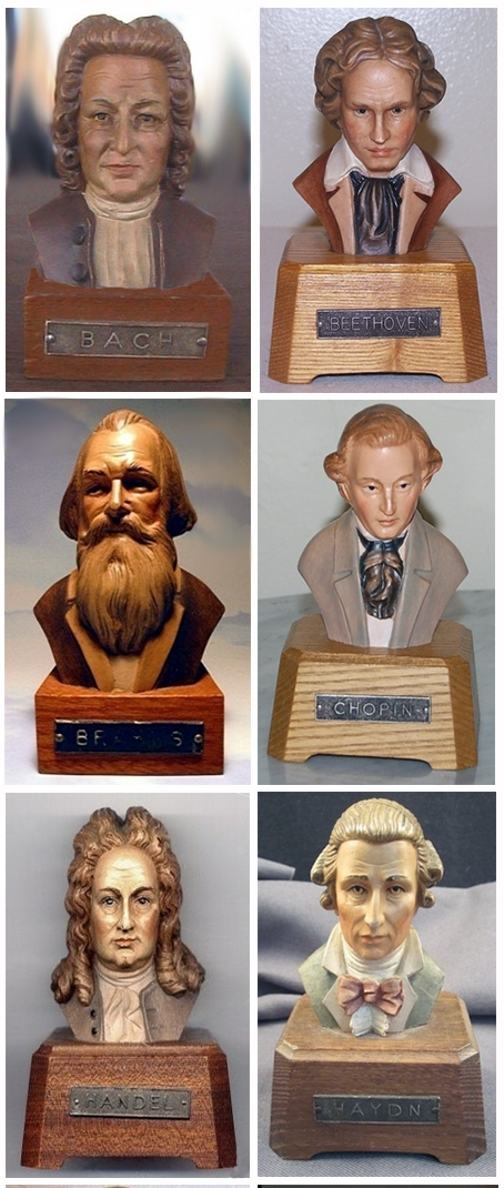 Composer Toy Music Boxes by Anri Toriart-Italy