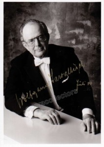 Conductor Wolfgang Sawallisch (1923-2013) signed photo
