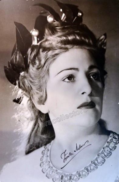 Zinka Milanov as Norma - Large Signed Poster
