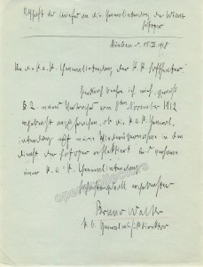 Autograph Letter signed by Bruno Walter, 1918