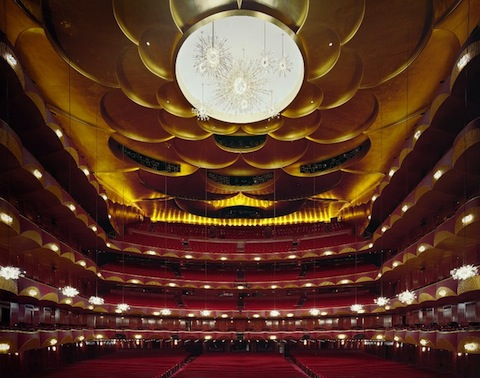 METROPOLITAN OPERA HOUSE - NEW YORK. Opened in 1966 (the existed since 1883 and had another theater which was demolished in 1967), it has 3,800 seats - the largest opera theater in the world.