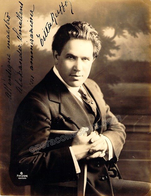 Titta Ruffo autograph photo