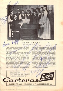 Trapp Family Chorus - Signed Program, 1950