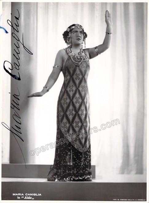 Maria Caniglia, signed photo as Aida