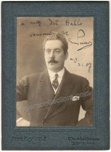 Puccini, Giacomo - Signed Cabinet Photo