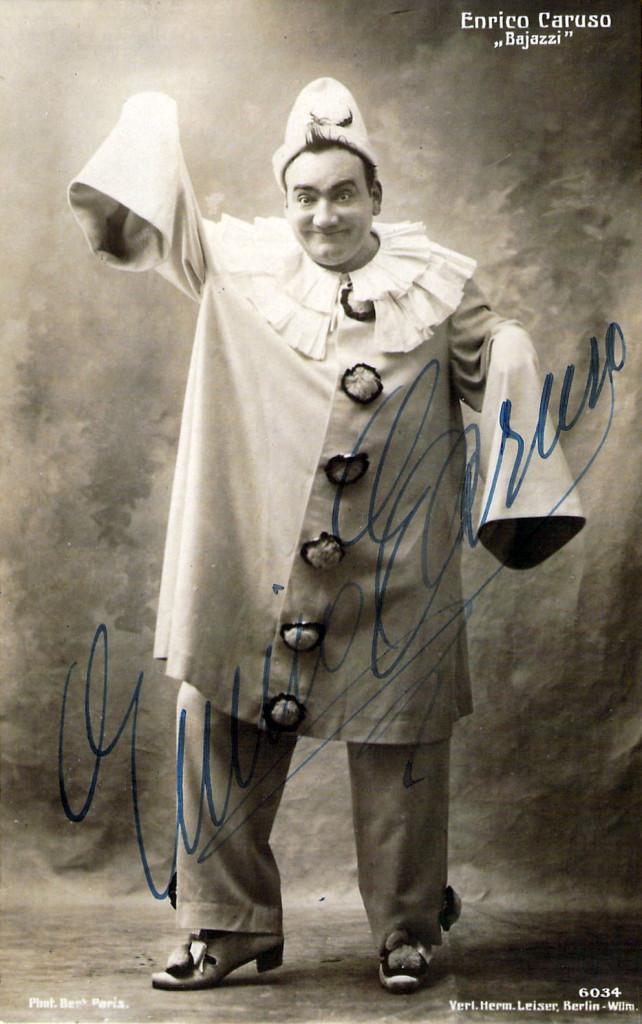 Enrico Caruso as Canio in Pagliacci
