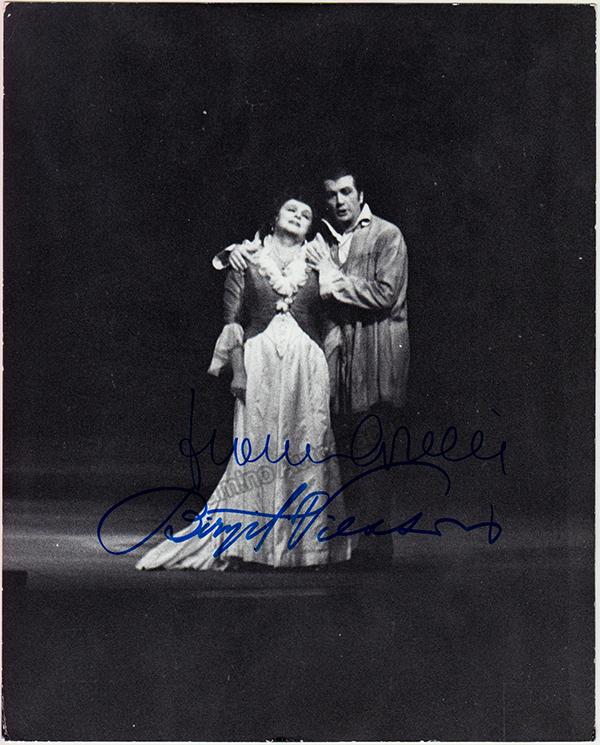 Birgit Nilsson and Franco Corelli - Double Signed Photo in Tosca