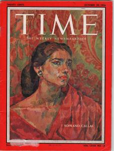 Maria Callas in Time Magazine cover