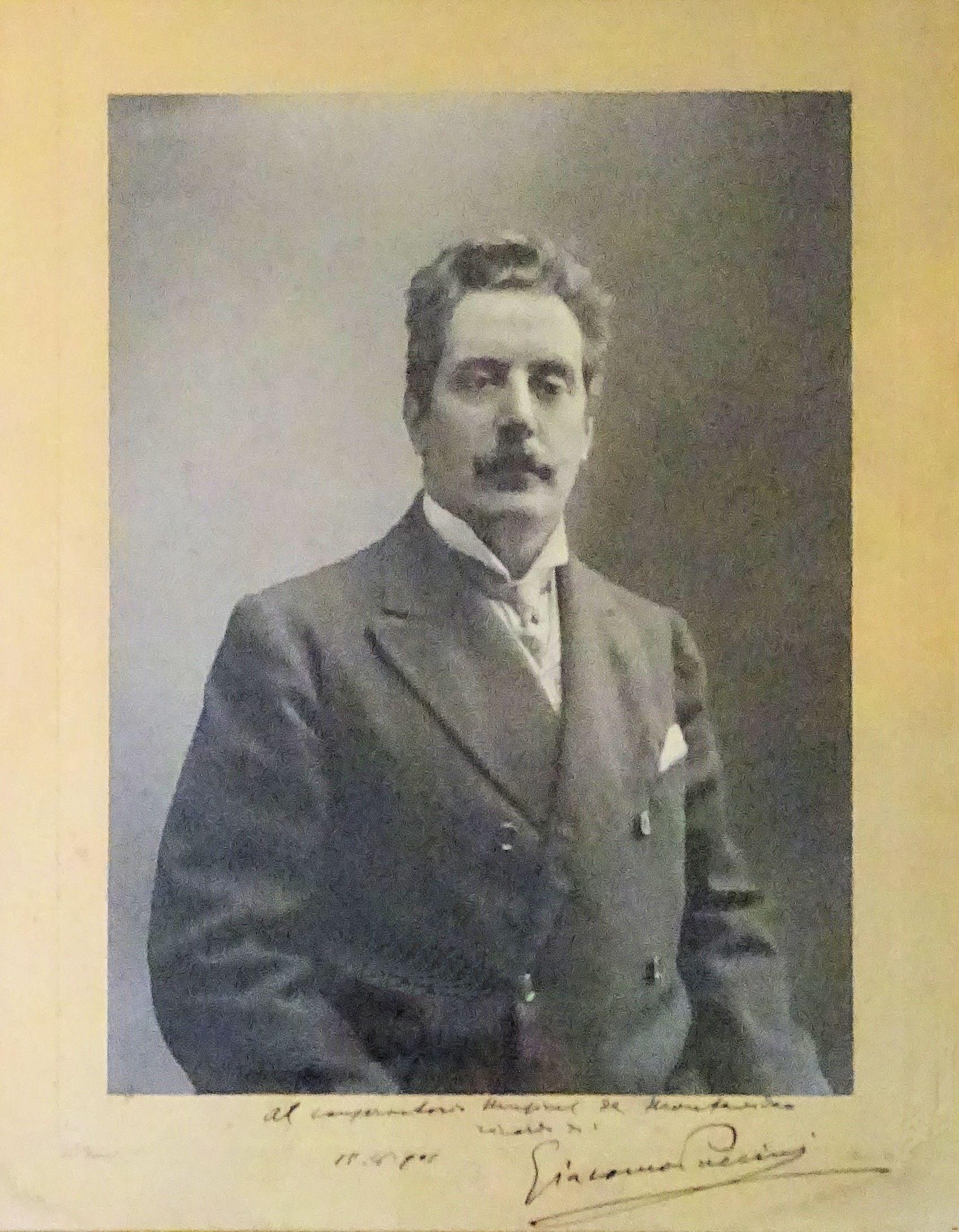Giacomo Puccini (1858-1924), gigantic signed photo