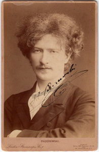 Ignaz Paderewski signed photo