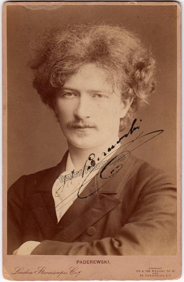 Ignaz Paderewski signed photo