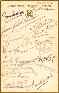 Enrico Caruso 1910 Cruise to Europe Norddeutscher Lloyd